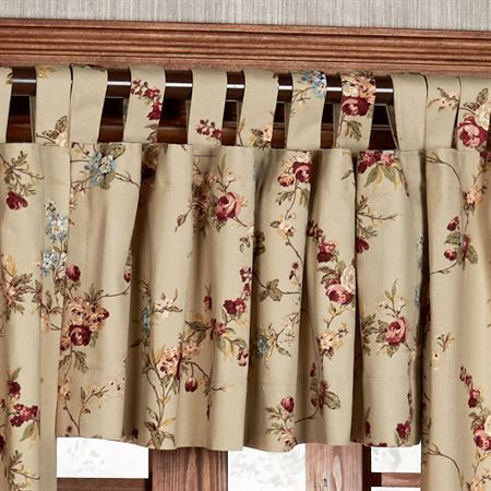 Fireside Floral Tab Top Insulated Window Treatment | 538 Scenic ...