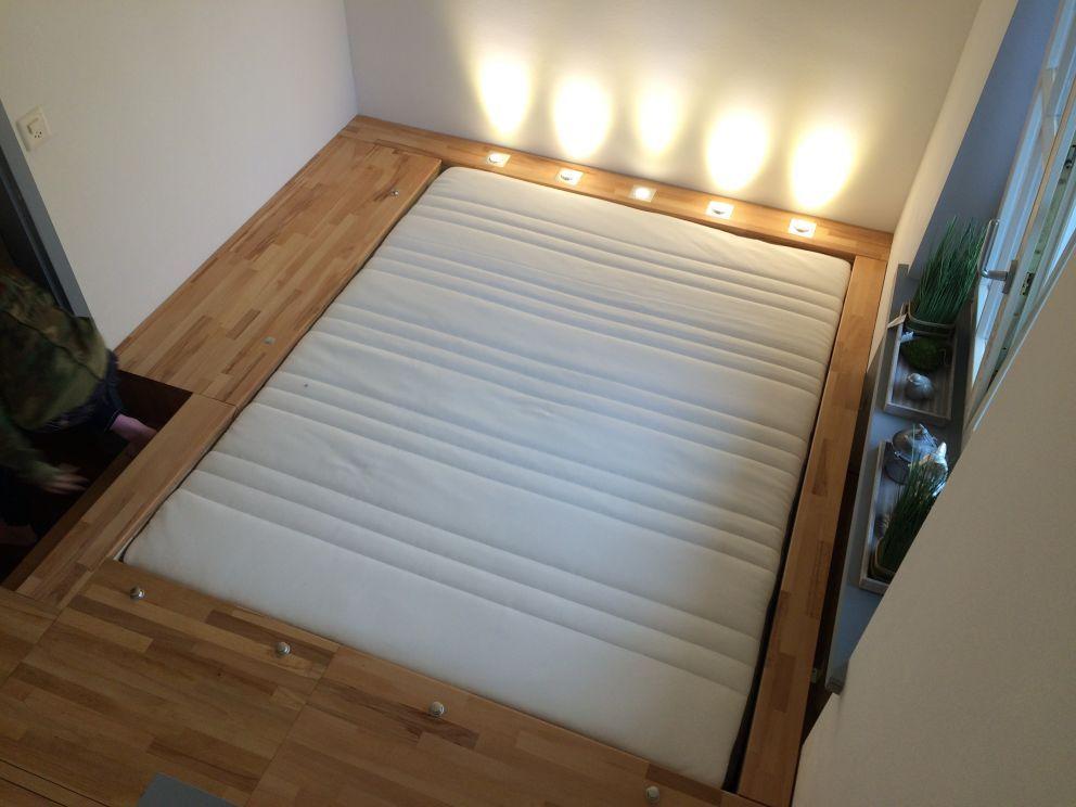 Das Schlafzimmer Hinter Der Geheimtur Podestbett Bauanleitung