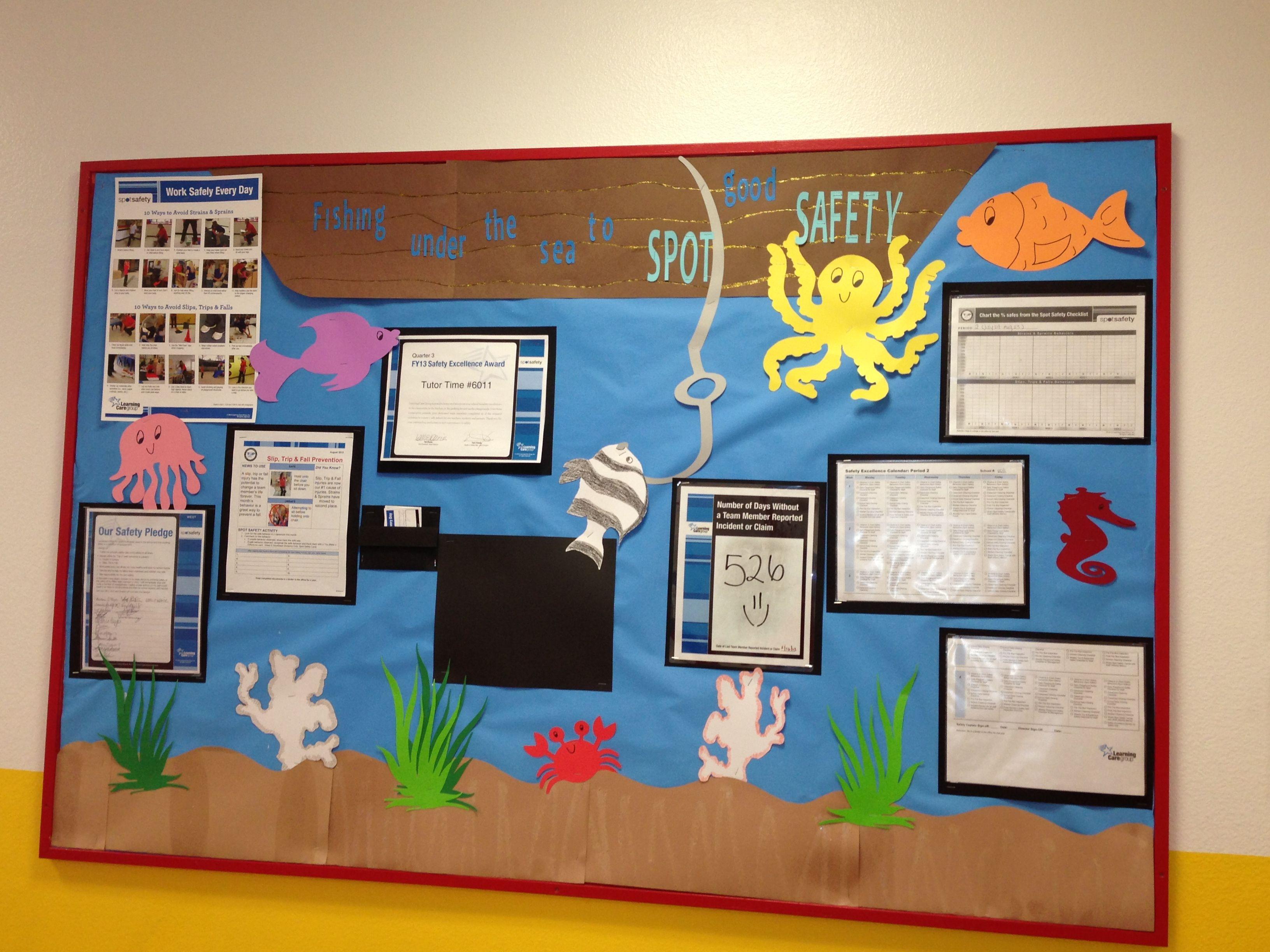 Safety Bulletin Board Themed Boards Work