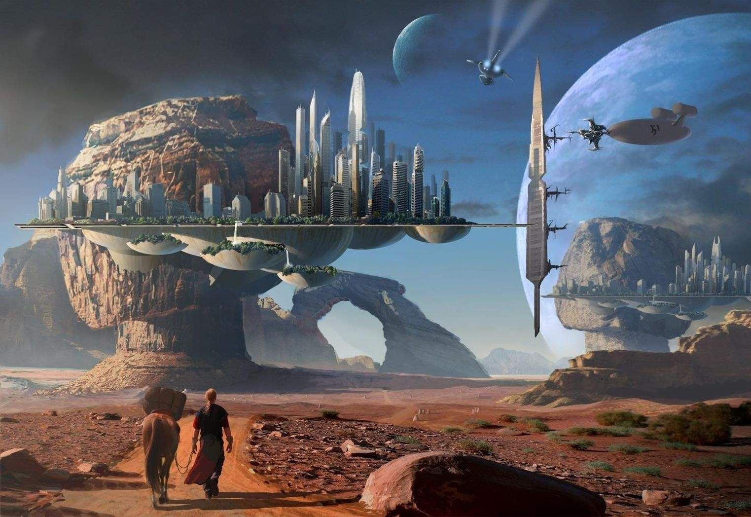 sci fi cities on other planets - photo #12