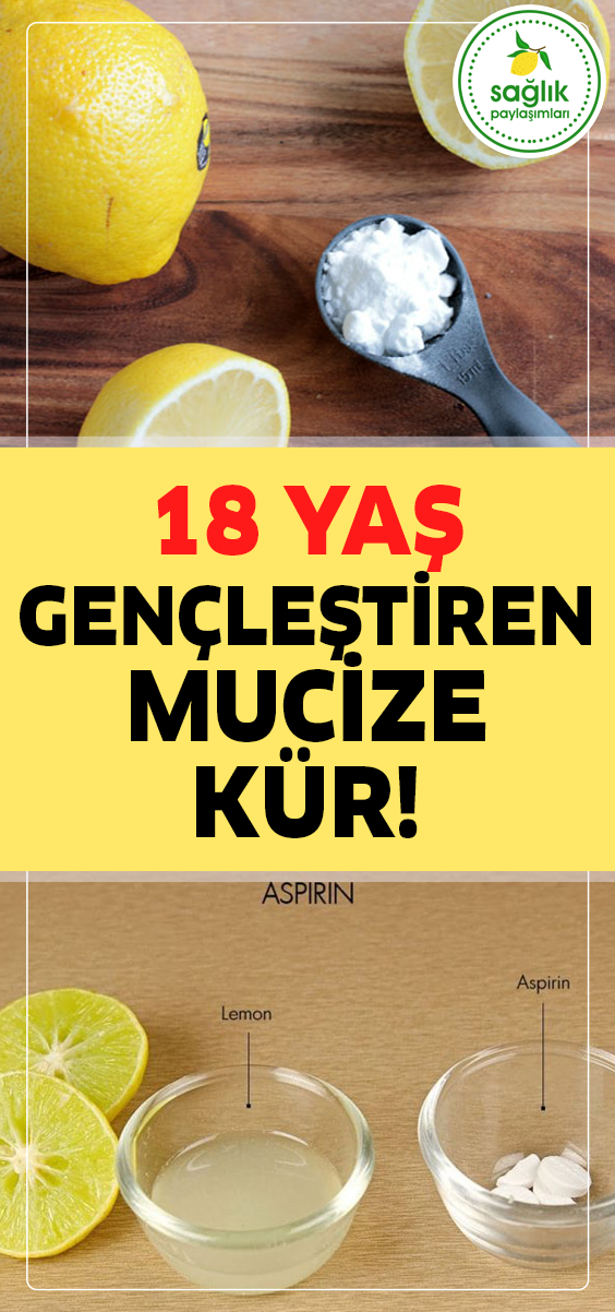 62 Yaşında Bile Olsanız 40 Yaşında Görüneceksiniz Sırrı: Aspirin + Limon #ciltbakımı