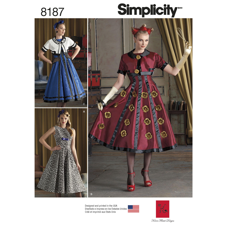 Simplicity 8187 Misses\' Costumes | Nähen