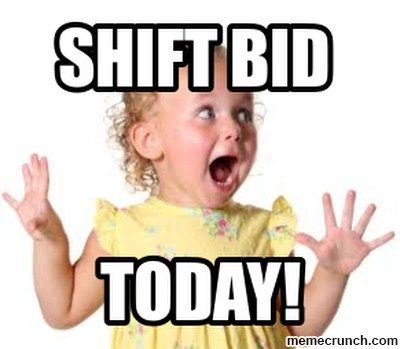 Shift Bid Excited Face Truckers Wife Excited Girl