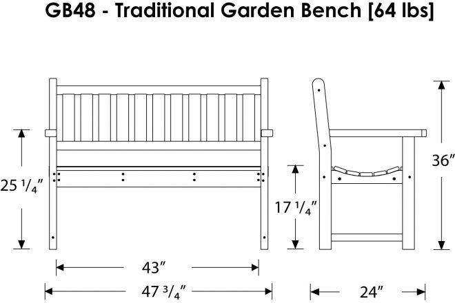 Outdoor Bench Dimensions Garden Designs Metal DIY