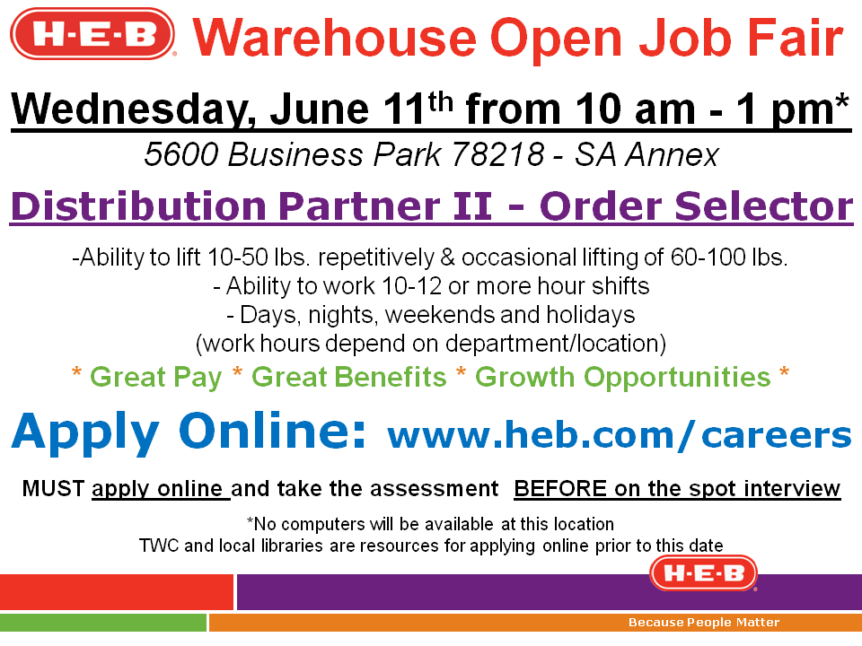 HEB Careers Fans.... We're in search of Order Selectors