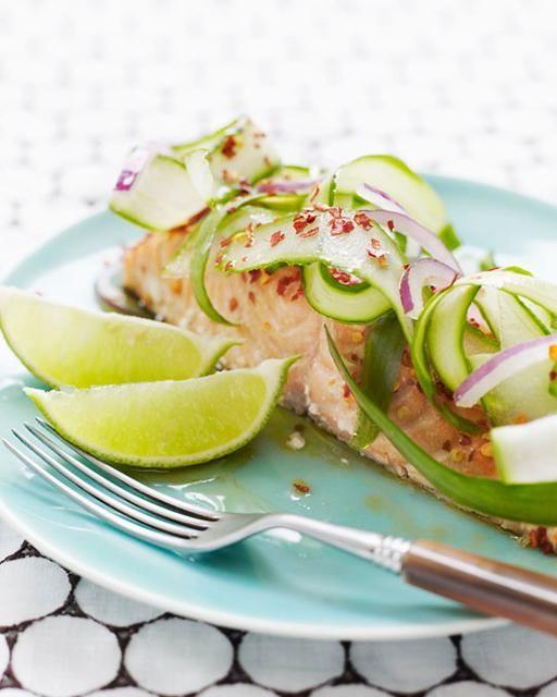 Sweet Paul's Salmon with Asian Cucumber Salad #gotowanie #inteligentnystyl www.amica.com.pl
