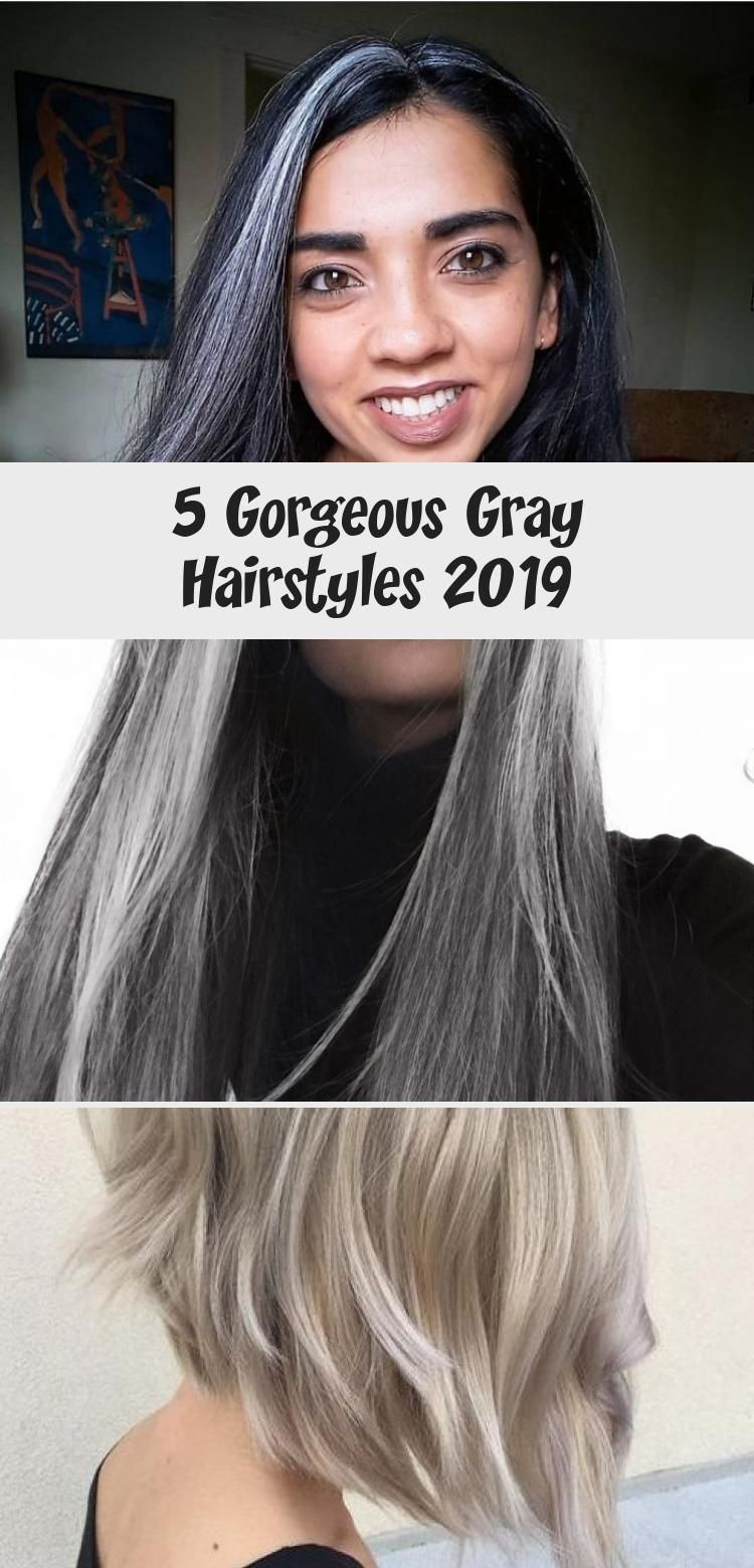 5 Gray Hairstyles 2019 Silver hair, Hair styles
