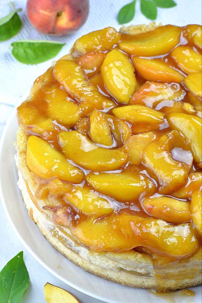 Peach Cobbler Cheesecake #peachcobblercheesecakeinajar