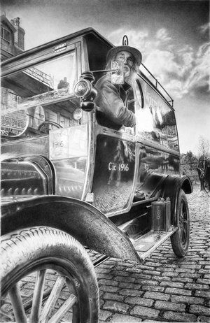 Old car | Graphite and ink drawings | Pinterest | Cars, Ink drawings ...
