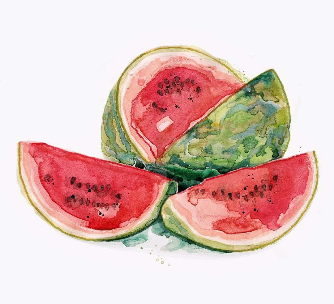 🍉🕶🌞 | #watermelon #keepingcool #heatwave #hottestdayoftheyear #melting #sketchoftheday #illustration #watermelonwednesday #🍉 #pink #pop #summercolour #july