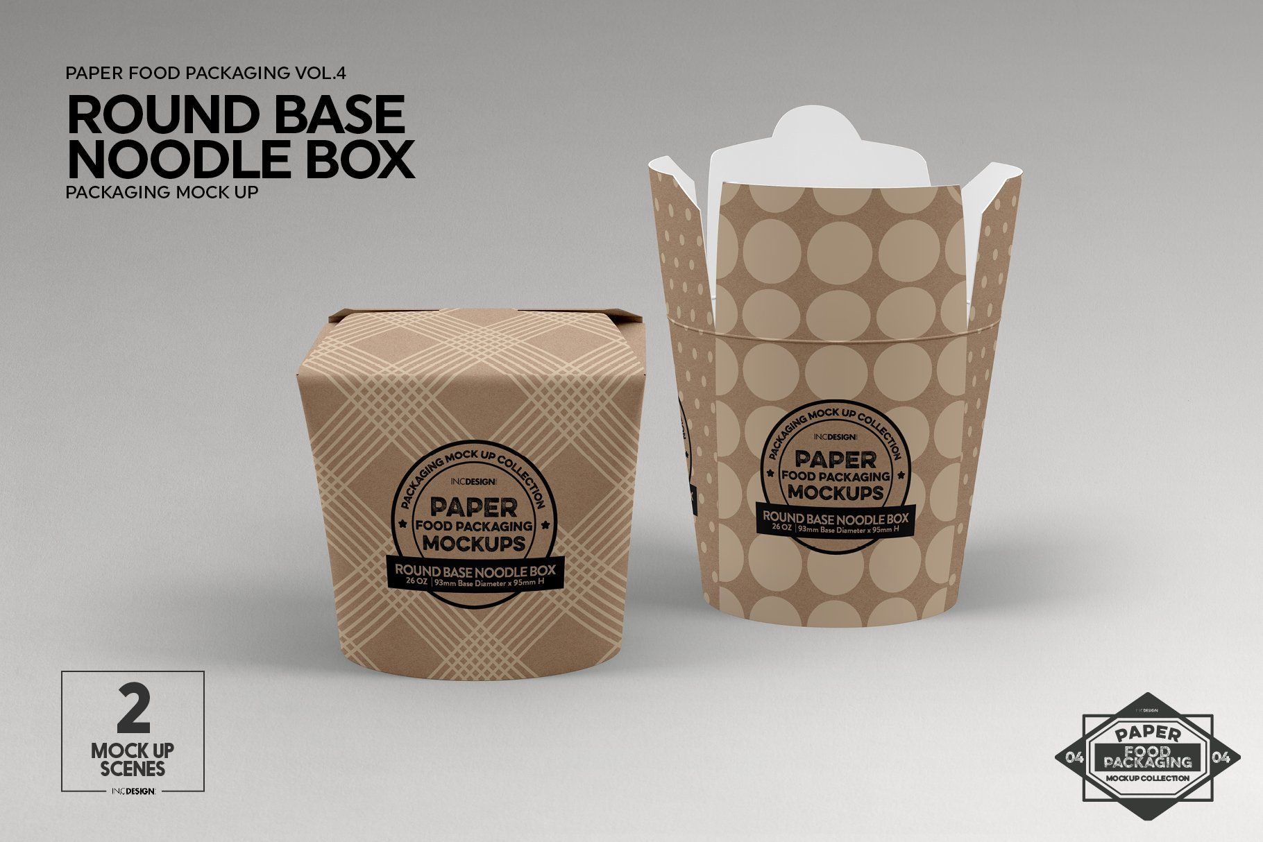 Download Round Base Noodle Box Mockup | Box mockup, Packaging ...