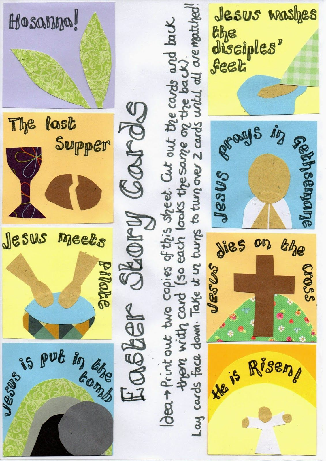 Easter Story Picture Card Games Print Out And Play Flame
