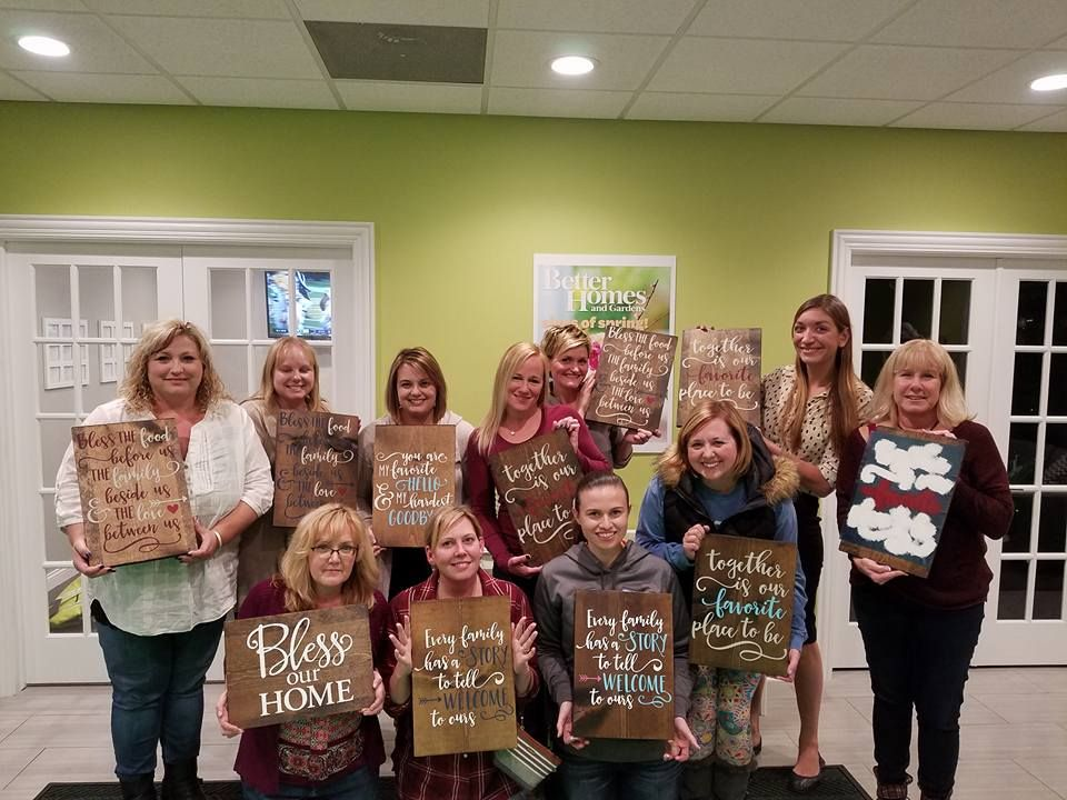 ladies night out paint party some of bhgre star homes agents with