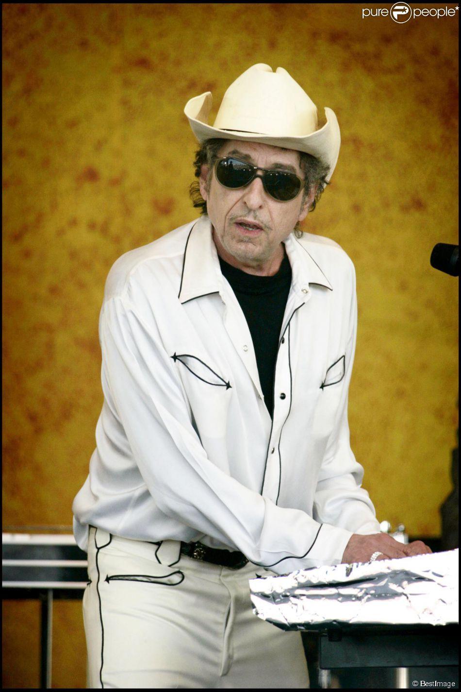 Bob Dylan en concert à la Nouvelle-Orléans, le 28 avril 2006.