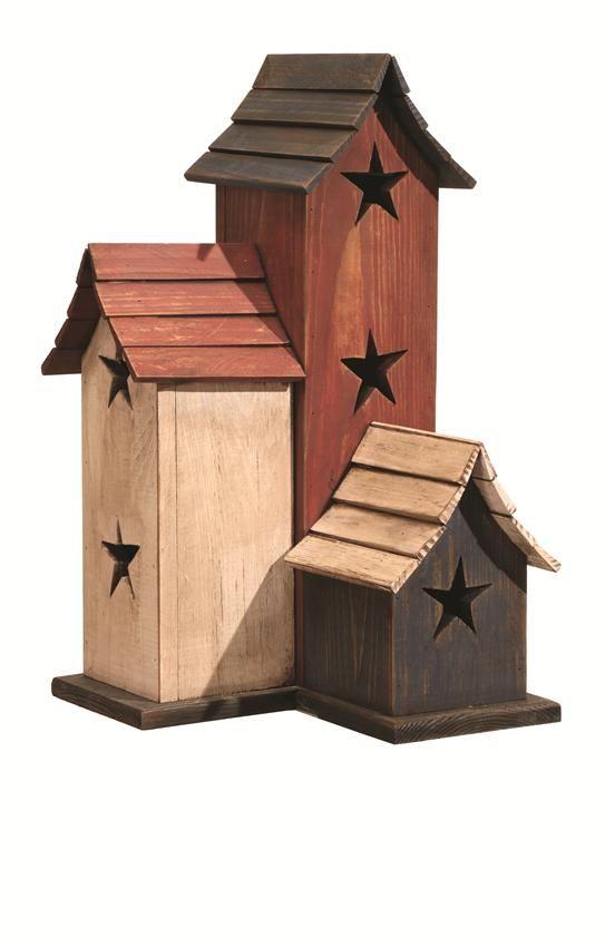 Wonderful Birdhouse Bird House Amish Made Primitive Chicken Coop NEW White