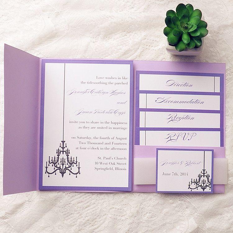 39+ Pocket wedding invitations purple information