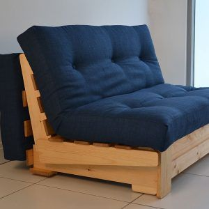 Single Pine Futon Sofa Bed With Mattress
