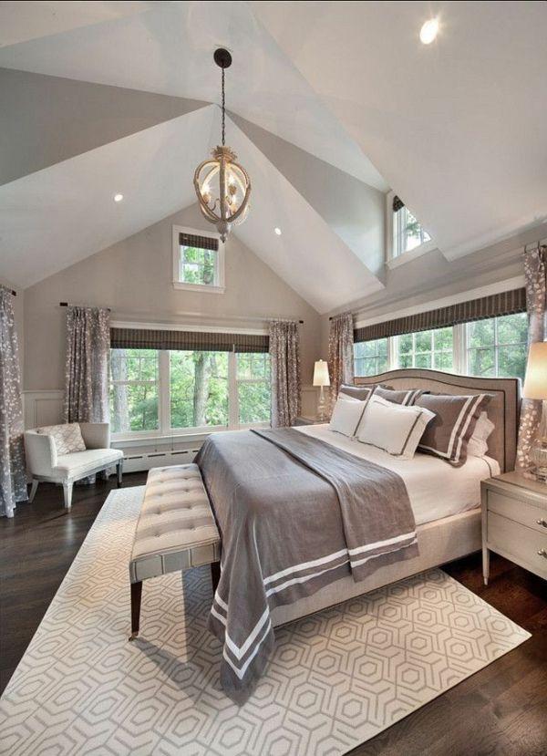 Helles Luxuriöses Schlafzimmer Modern Gestalten