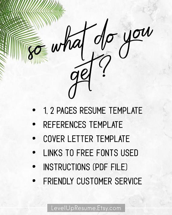Modern Resume Template + Cover Letter + References (#019 Elliot - Resume Now Customer Service