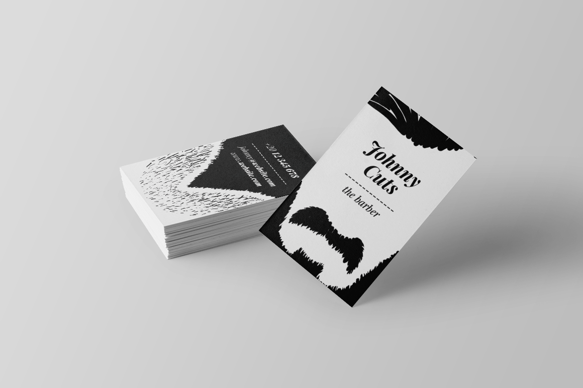 The Barber Business Card Material Brand Brand Identity Business