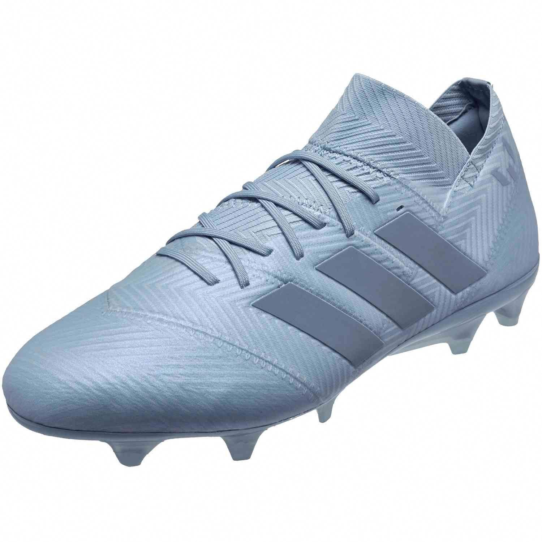 5a997c7aee8 adidas Nemeziz Messi 18.1 FG – Ash Blue/Raw Grey   Soccer is ...