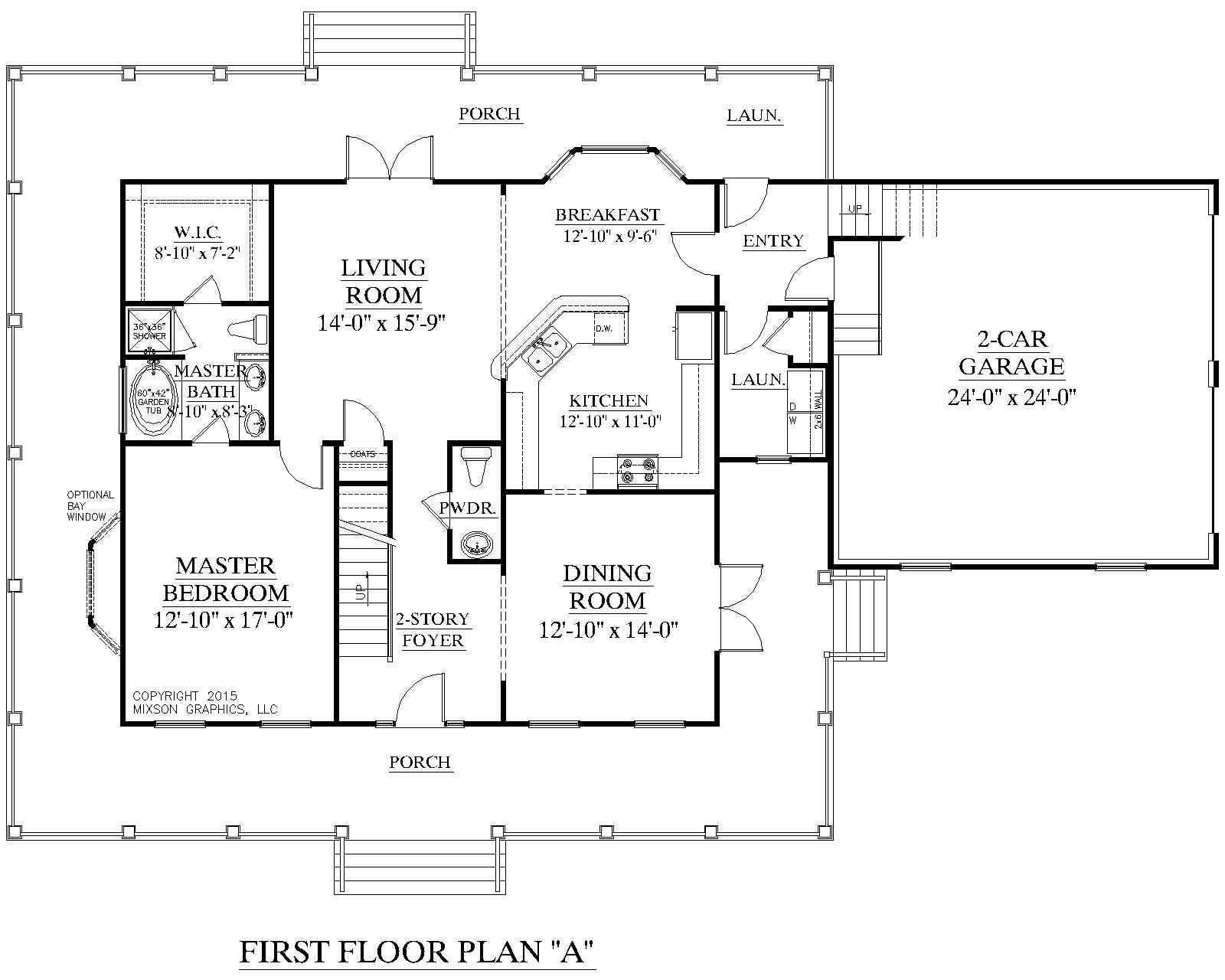 Master Bedroom 1st Floor House Plans house plan 2109-a the mayfield a 1st floor plan | our next house