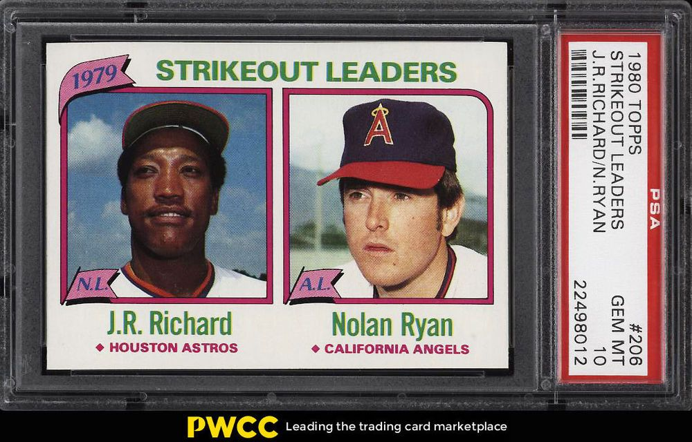 1980 topps jr richard nolan ryan strikeout ldrs 206
