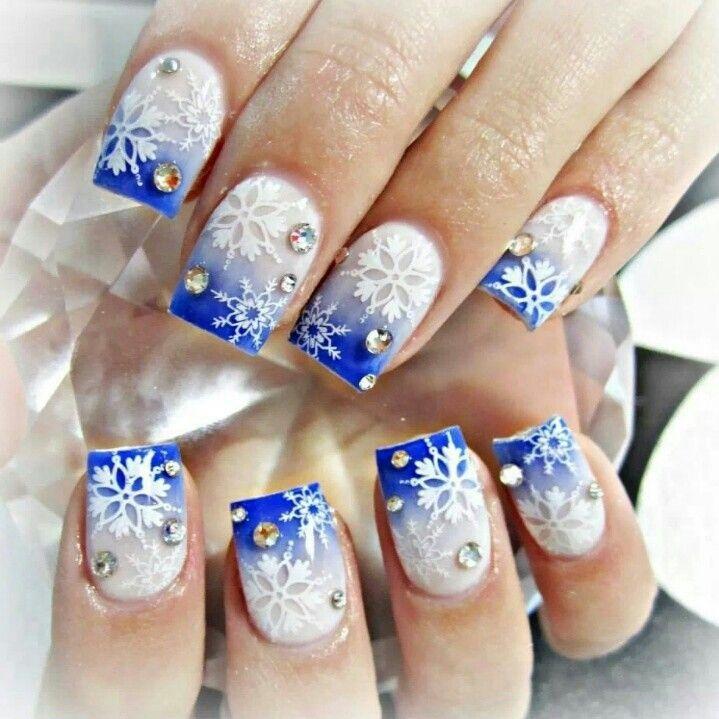дизайн ногтей зимний картинки
