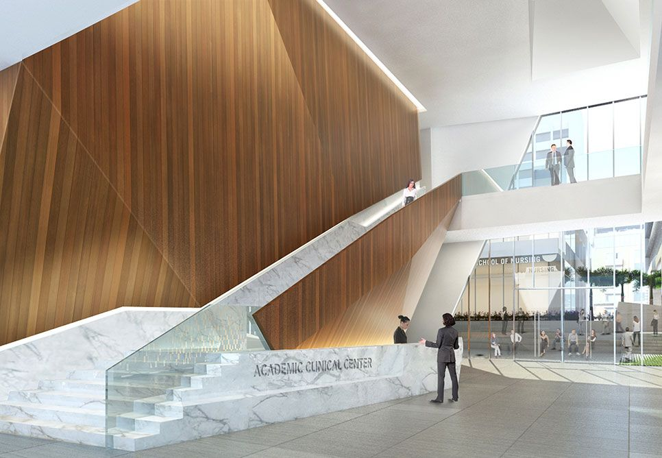 American university of beirut academic and clinical center for Office design hamra