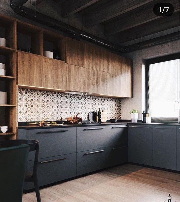 Id e de r novation de cuisine avec un style industriel et une d co masculine f roce et rebelle - Idees renovation cuisine ...