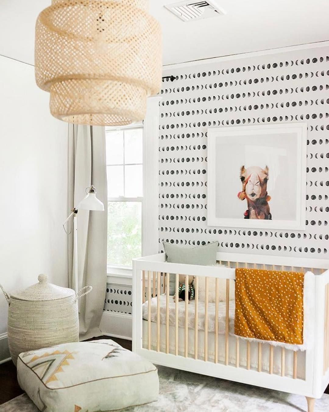 Moon Phases removable wallpaper, Geometric wall mural