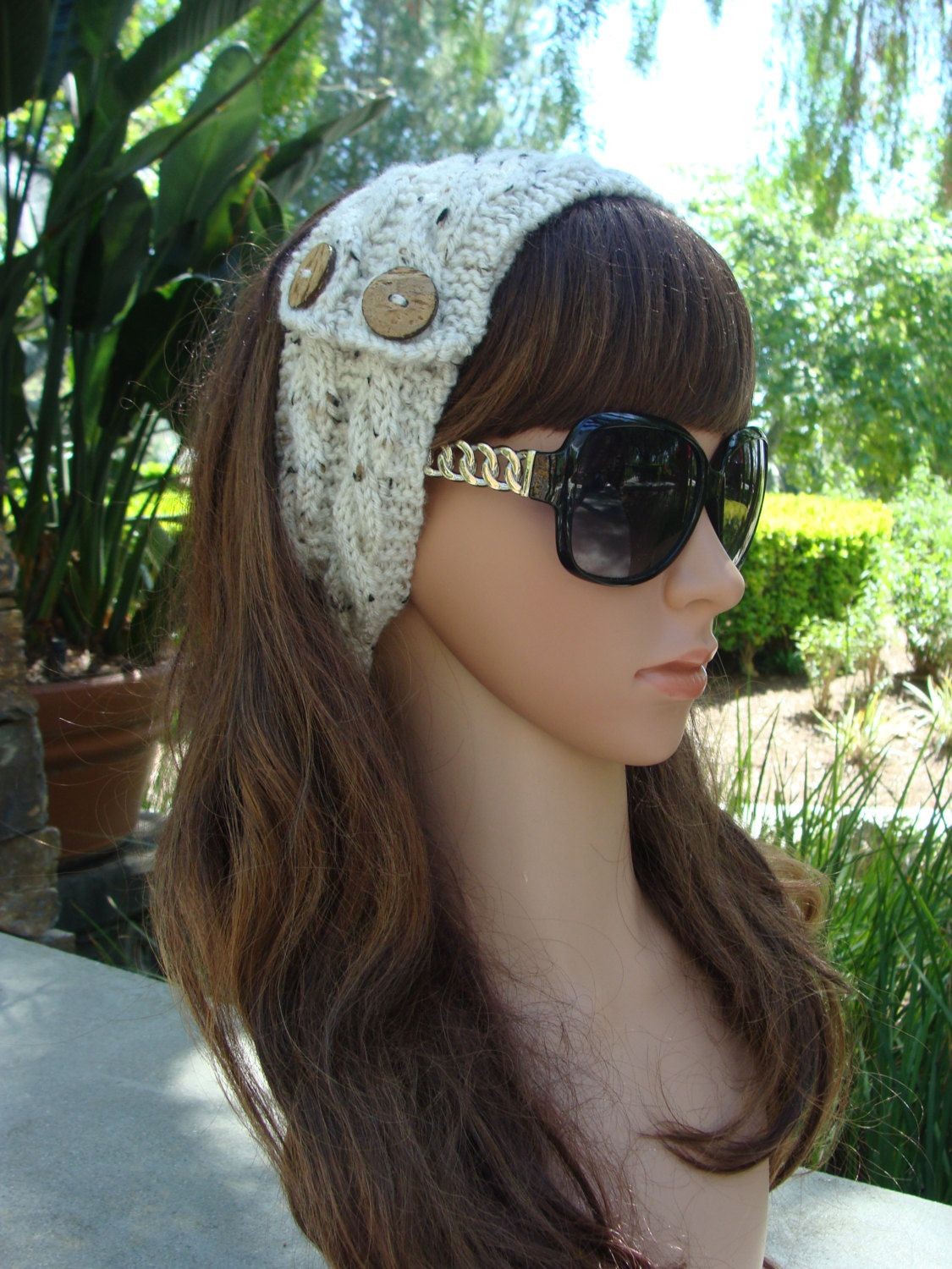 PATTERN #29: Double Cable Knit Headband, Knit Hairband, Knit Hair ...