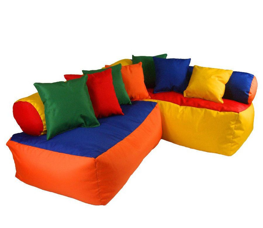 Childrens Corner Sofa Set Kids Furniture Seat Chair Bean Bags