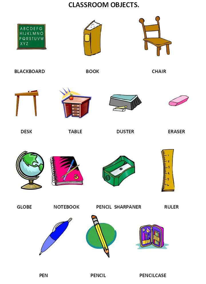 classroom objects school english vocabulary spanish lessons classroom. Black Bedroom Furniture Sets. Home Design Ideas