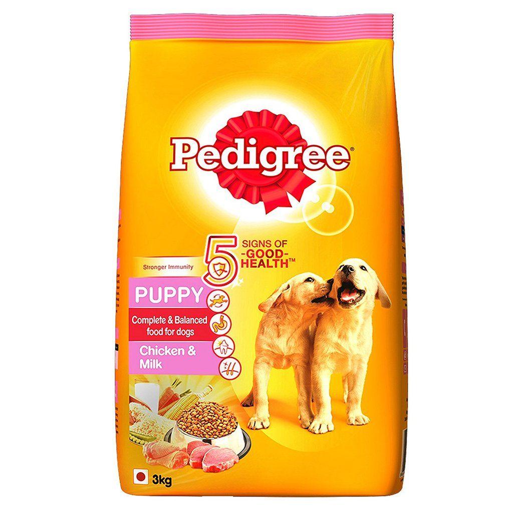 Pedigree Puppy Dog Food Chicken & Milk, 3 kg Pack Dry