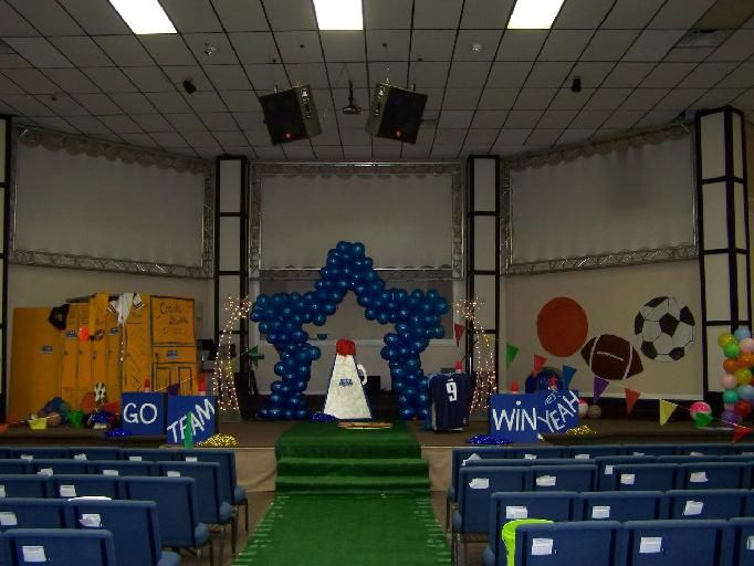 Vbs Craft Ideas For Kids Part - 47: Childrenu0027s Church Room Ideas | Sports Theme Children S Church Backdrops Kid  S Room Decorations For
