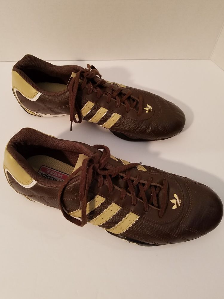 competitive price 91854 02aa0 Team Adidas Goodyear Brown Leather Shoes - Sneakers Footwear Mens - Size US  11.5   Clothing, Shoes   Accessories, Men s Shoes, Athletic   eBay!