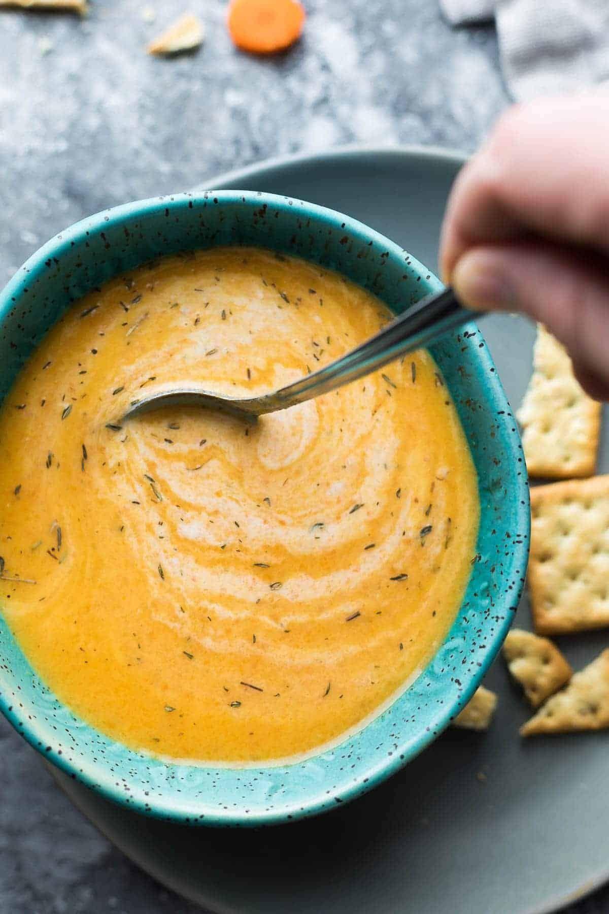 Instant Pot Carrot Ginger Soup (Vegan) Instant Pot