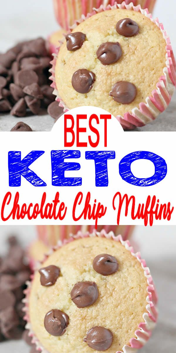 BEST Keto Muffins! Low Carb Chocolate Chip Muffin Idea – Quick & Easy Ketogenic Diet Recipe – Completely Keto Friendly