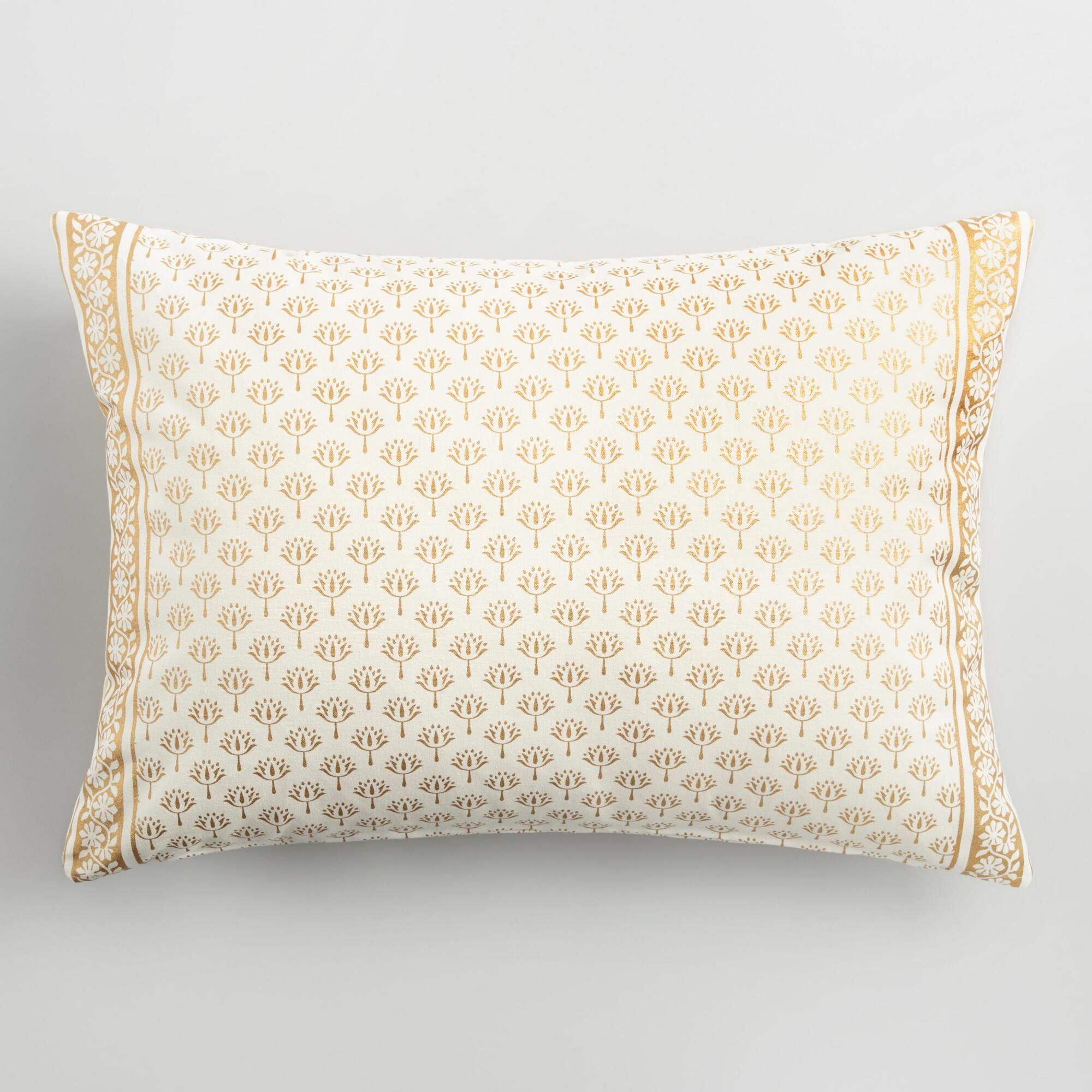 The Charming Ivory And Gold-flecked Lotus Flower Pattern