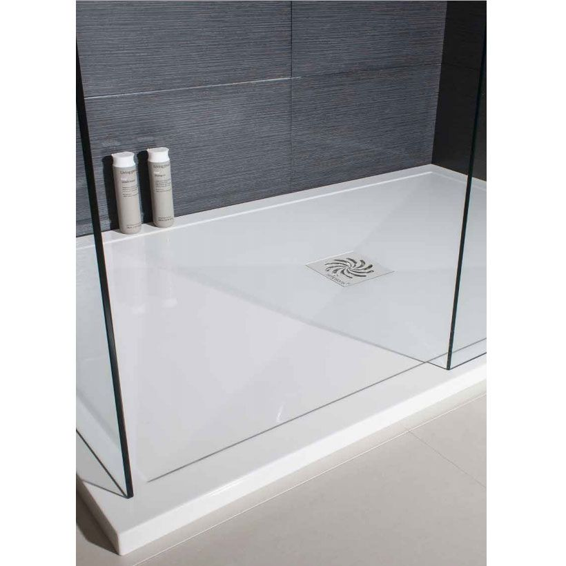 Simpsons - Rectangular Low Profile Stone Resin Shower Tray & Waste ...