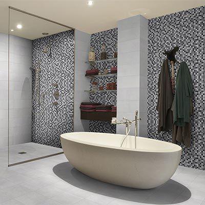 Carrelage gris fa ence mosa que valentine espace - Aubade carrelage salle de bain ...