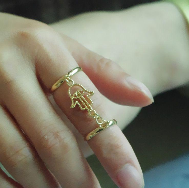 Crystal Hand Shape Multi-Finger Ring | Ring | Pinterest | Bergamot ...