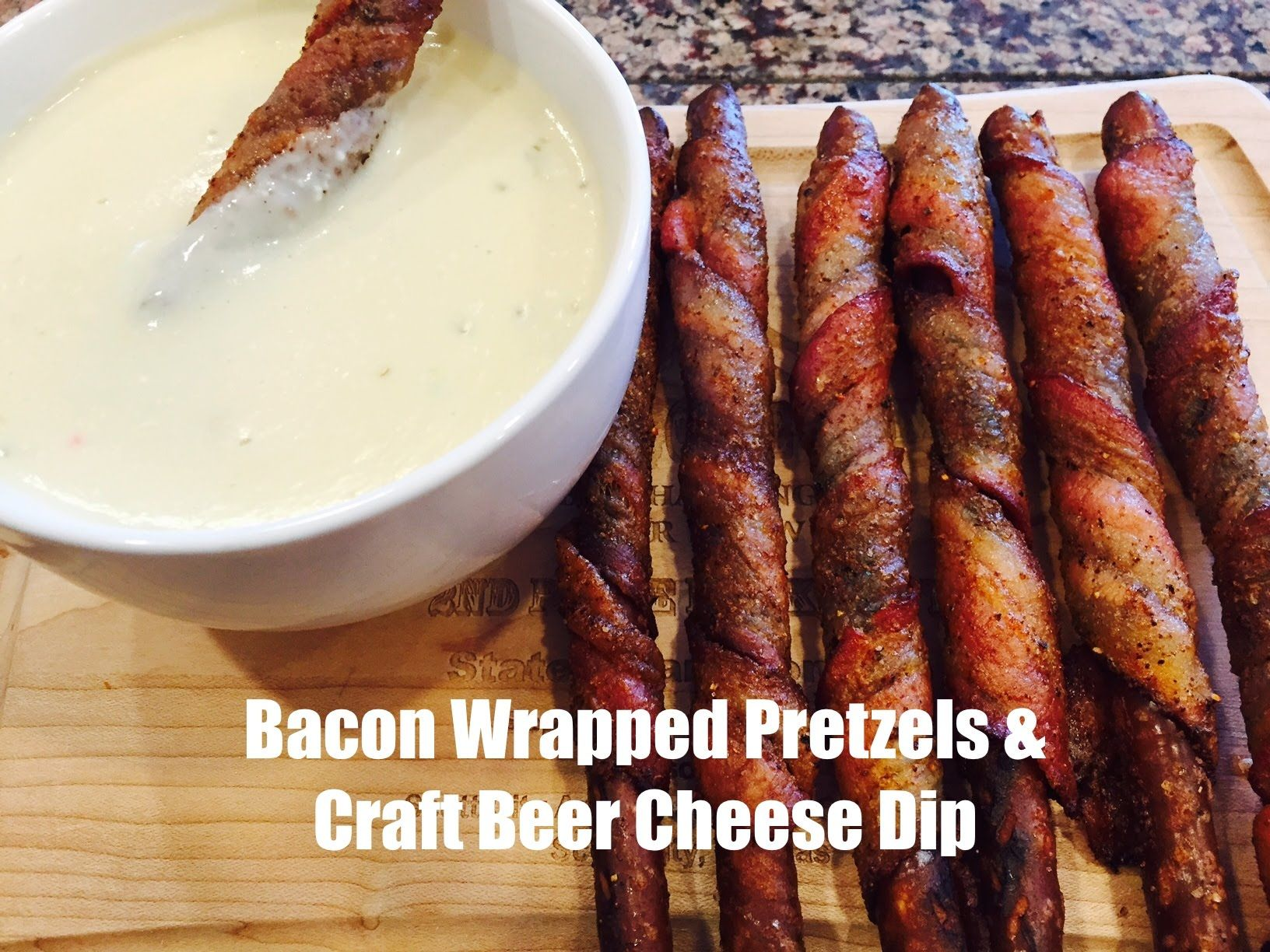 Another Awesome Snack for your next tailgate or football party. Today I'll show you a Bacon Wrapped Pretzel & Craft Beer Cheese Dip #tailgatefood