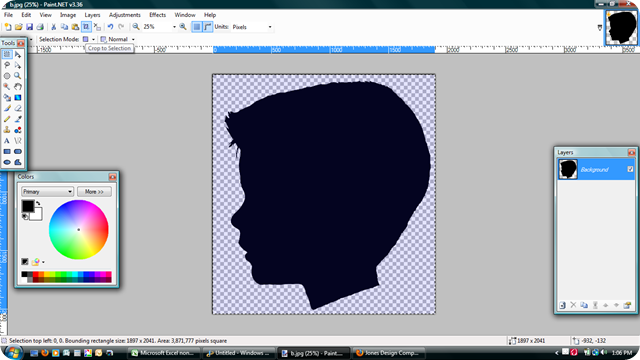 how to make a sillouette from a photo