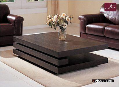 Mesa de centro moderna en madera de diseno vanguardista - colombia - mesas de centro de diseo