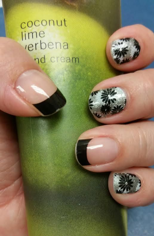 FlapperJN combined with Black French Tips Jamberry nail wraps ...