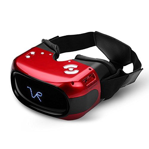 Excelvan A5026 All In One Hd 3d Vr Virtual Reality Headset Glasses Video Movie Player With Android 5 1 System Headpho With Images Virtual Reality Headset Headphone Headset