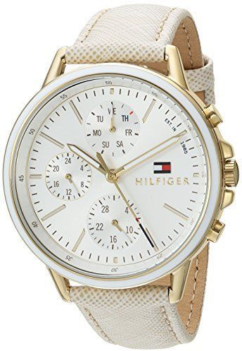e29a84d6 Tommy Hilfiger Women's 'Sport' Quartz Gold-Tone and Leather Casual Watch,  Color:Champagne (Model: 1781790)