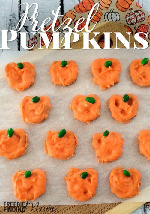 Pretzel Pumpkins \u2013 Easy and Fun Halloween Snacks! Halloween snack